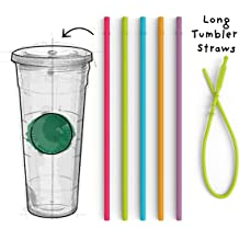 7e846811769 Long Silicone Straws for Tumbler - Slender Silicon Rubber Reusable Drinking  Straws for Simple Modern, Starbucks, Yeti, rTic, Acrylic 24 30 40 ... KWD 6
