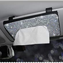 1 PC Driver Side EGBANG Console Side Pocket Diamond Crystal Car Seat Pockets Organizer Caddy Catcher Auto Filler Gap Bling Bling Car Console Side Pouchs for Cellphone Wallet Coin Key Credit Card