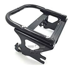 HTT Group Motorcycle Chrome Detachable Adjustable 2 Up Tour Pak Luggage Mounting Rack For Harley Touring Electra Glide Road King FLHT FLHX FLTR 1997-2008