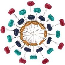Fine 6 x 1//4 x 1//2 Silicon Carbide Dedeco 0164 Rubberized Abrasive Wheel Red