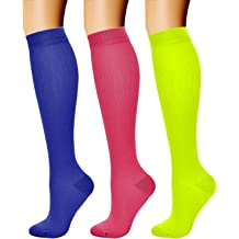 876081983 Compression Socks (3 Pairs) 15-20 mmHg is Best Athletic & Medical