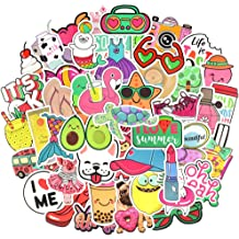 SANNIX 105 Pcs Waterproof Stickers for Water Bottles Cute Laptop Stickers for Teens Girls