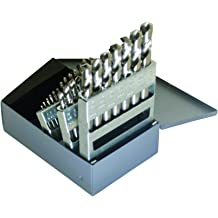 Round Shank 1//4 Greenfield Industries Inc. Finish E Size Uncoated 135 Degrees Split Point Bright 1//4 Spiral Flute Pack of 12 Cleveland C70263 High Speed Steel Aircraft Type C Heavy-Duty Screw Machine Length Drill Bit