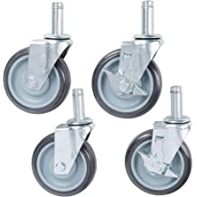 J.W Winco 35GBB2//GS Caster with Bolt Hole Mounting or Threaded Stem Mounting Swivel Bracket: Zinc Plated Steel Stamping