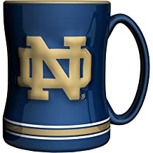 The Fanatic Group Notre Dame Double Walled Soft Touch Tumbler Blue Design-1
