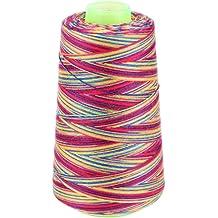 CHBC 3000 Yards Graident Rainbow Polyester Embroidery Sewing Thread Stitching Yarn
