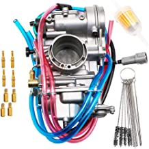 RUHUO CT70 Carburetor for Honda CT70H//KO Trail70 1969-1977 with Throttle Cable Fuel Filter /& Tubing Clamps