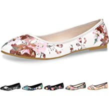 43f12fa6f CINAK Floral Flats Shoes for Women Gift Classic Black Walking Comfortable  Slip On Ballet Casual Round