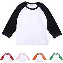 e3992d01 CloudCreator Toddler Baby Girls Boys Long Sleeve Shirts Raglan Shirt  Baseball Tee Cotton T-Shirt