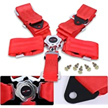 G-Force 7000RD Red SFI 16.1 Rated 5-Point Pull-Down Camlock Individual Shoulder Harness Set