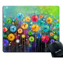 MSD Mousepad Wrist Rest Protected Mouse Pads//Mat with Wrist Support Design for Nature Summer Macro Flower Spring Floral Yellow Flora Background Bouquet Be