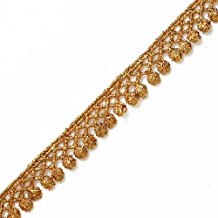 Crafts and Sewing LP-MX-4609 1-3//8 Inch by 1 Yard Costume or Jewelry Metallic GOLD Lace Trim for Bridal