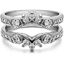 Sterling Silver Gents Wedding Ring Charles Colvard Moissanite Size 3 to 15 in 1//4 Size Intervals 0.24Ct