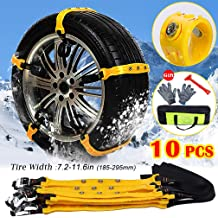Heibond Anti Skid Tire Blocks 3 PCS Car and SUV Snow Chains with Gloves Universal Anti-Skid Tool for Mud,Snow,Sand,Off-Road