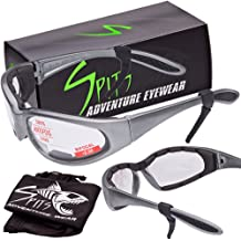 46f51df8c88d Spits Eyewear Hercules Magnifying Bifocal Safety Glasses, Gray Frame, Foam  Padded Options