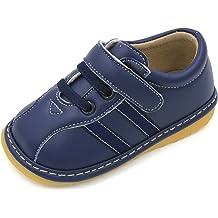 HLT Toddler//Little Kid Boy Sport Blue Stripe Squeaky Shoe