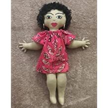 Black Doll Maker African American Doll Collectible Doll Hand Painted Ethnic Doll Handcrafted Black Doll African Inspired Multicultural Doll Natural Hair Styles 11 inch Doll