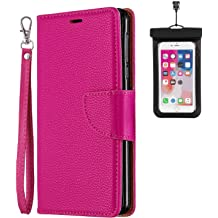 iPhone XR Flip Case Cover for iPhone XR Leather Extra-Protective Business Kickstand Wallet case Card Holders with Free Waterproof-Bag Black2