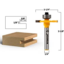 Yonico 14199 Counter Sink /& Screw Slot Router Bit 1//2-Inch Shank