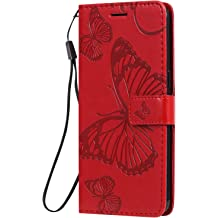 6.5 Shockproof Leather Flip Cover Case for Apple iPhone 11 Pro Max NEXCURIO Wallet Case for iPhone 11 Pro Max NEKTU090478 Red with Card Holder Side Pocket Kickstand