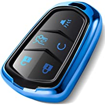 Pack of 2 KeyGuardz Keyless Remote Car Smart Key Fob Outer Shell Cover Soft Rubber Case for Cadillac ATS CTS DTS SRX STX XTS