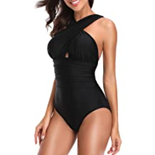 917f10d0dd W YOU DI AN Women's Swimsuits One Piece Tummy Control Front Cross