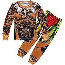 UGFGF-S3 Palm Tree and Tropical Island-1 Baby Boy Long Sleeve Bodysuit Kid Pajamas