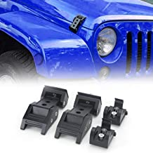 Pair AMERICAN MODIFIED Jeep Wrangler Hoods Catch Sets Hood Latch Lock Without Key Retro Black Steel Jeep Wrangler Accessories JK JKU /& Unlimited Rubicon Sahara Sports,2007-2018,Stainless Steel