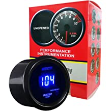 HOTSYSTEM 7 Color Oil Pressure Gauge Kit 0 to 100 PSI Pointer /& LED Digital Readouts 2-1//16 52mm Black Dial for Car Truck