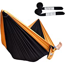 Cutequeen Double Nest Nylon Hammock with 2pcs 17 Loops Tree Straps