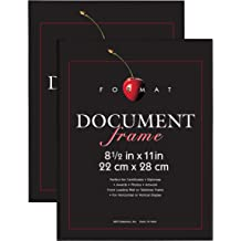 Black 69302 MCS 8.5x11 Inch Swan Solid Wood 1.25 Inch Wide Document Frame