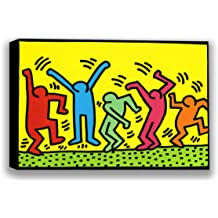 1987 Dance Keith Haring Abstract Contemporary Figurative Print Poster 11x14
