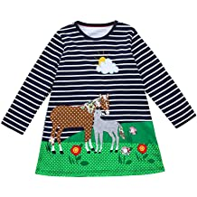 dumanfs Toddler Baby Girls Denim Shirt Dress Long Sleeve Princess Tutu Dress Casual Holiday Cowboy Clothes