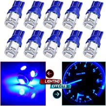 cciyu 194 Extremely Bright LED Bulbs T10 4-3528-SMD Interior Lights Dashboard Gauge Light Speedometer Odometer Tachometer LED light Instrument Panel Light Wedge T10 168 2825 W5W Pink//Purple Pack of 10