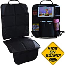 Black. Heariao Car Seat Mat Protector Non-Slip Waterproof Seat Protector Under Child Car Seat Protect Your Expensive Leather Seats from Damage Car seat Mat Cover Pad for Child /& Baby