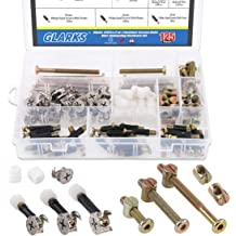 Eyech 50pc Furniture Connecting Nails Hardware Cam Fitting with Dowel 2-in-1 Pre-Inserted Wheel Nut /& Bolt Screw Eccentric Wheel for Wardrobe Cabinet Drawer Dresser