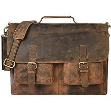 dc499fd1e5c08 16 Inch Vintage Handmade Leather Messenger Bag for Laptop Briefcase Best  Computer Satchel School Distressed Xmas