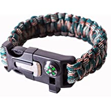 Emergency Paracord Bracelets 2019 The Ultimate Tactical Survival Gear| Flint Fire Starter Whistle Best Wilderness Survival-Kit for Camping//Fishing /& More by CertechUS Compass /& Scraper