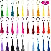 Handmade DIY Tassels 51 Colors Mini Tassels Earring Pendants for Crafts Jewelry Making Bookmarks Keychain DIY Projects 1.5Inch 102Pcs Sewing Tassels