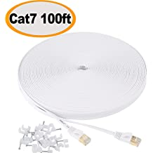 Cat 7 Shielded Ethernet Cable 5 ft 6 Pack 10GB Jadaol Fastest Cat7 Flat Patc