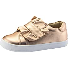 Old Soles Girls Heart Felt High Top Copper Smooth Leather Lace Up Side Zipper Plush Fur Heart Sneaker