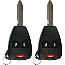 ECCPP 2X Keyless Entry Remote Fob Replacement fit for Chrysler 200 300 Aspen Sebring//Dodge Avenger Charger Durango Magnum//Jeep Commander Compass Patriot Wrangler OHT692713AA OHT692427AA KOBDT04A