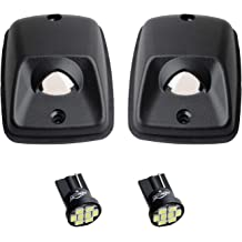 Pack of 2 HERCOO LED License Plate Light Lamp Lens White Bulbs Black Housing Compatible with 1994 to 2004 Ford Mustang Pickup Truck Rear Step Bumper