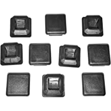OD Square Plastic Plugs Furniture Glide Inserts 3//4 Tubing End Cap 0.75 Pack of 10 1-3//8 1.375 Inch   Fits Inside Dia 1.11 to 1.2 10-14G , 10-14 Gauge Fencing Post End Caps