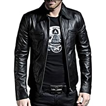Laverapelle Mens Genuine Lambskin Leather Jacket 1501177 Black, Moto Jacket