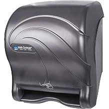 Classic Transparent Black Pearl Renewed San Jamar T950TBK Element Lever Roll Towel Dispenser