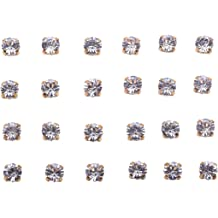 Shoes Bags KAOYOO 100Pcs 8mm//0.3 Crystal Rhinestone Buttons Round Lace Rose Silver Plating Sew on DIY Craft Perfect for Clothing Dress Wedding Party Decoration etc