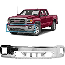 FO1002356 Chrome MBI AUTO Steel Front Bumper Face Bar for 1999-2002 Ford F150 99-02