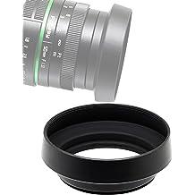 Fotasy 43mm Slim Low Profile Designed Metal Curved Metal Screw-in Lens Hood Shade for Leica Leitz Voigtlander Canon Fuji Nikon Olympus Panasonic Pentax Sony 43 mm Hood