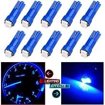 BSLighting 10 Pcs 360-degree Error Free 8-smd-1210 T10 2825 W5w LED Bulbs w// Built-in Load Resistors for European Cars
